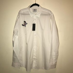 Standard Issue NYC NEW White Button Down shirt